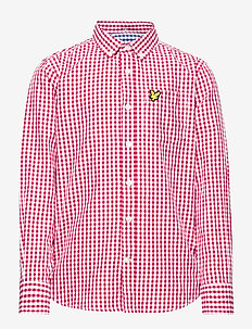 Lyle & Scott Gingham Check Shirt - ROYAL RED