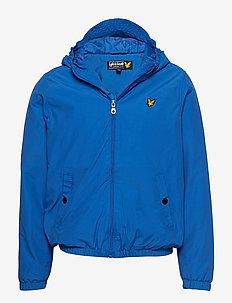 Zip Through Hooded Jacket - LAKE BLUE
