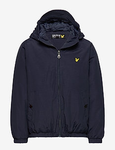 Zip Through Hooded Jacket - NAVY BLAZER