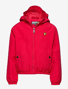 Zip Through Hooded Jacket - bomber jackets - tango red