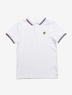 Plain Tipped Polo - BRIGHT WHITE