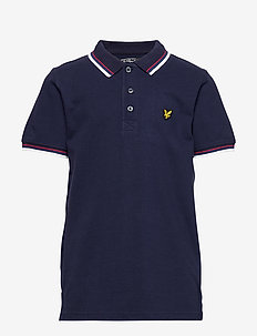 Plain Tipped Polo - NAVY
