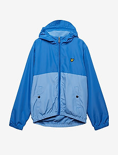 Colour Block Jacket - LAKE BLUE