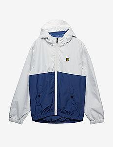 Colour Block Jacket - SEASHELL WHITE