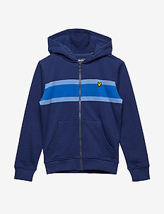 Engineered Zip Through Hoody - TWILIGHT BLUE