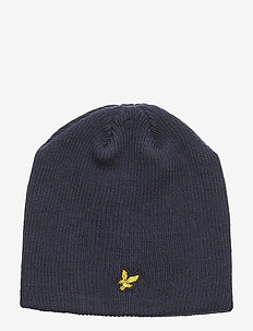 Ribbed Knit Beanie - NAVY BLAZER