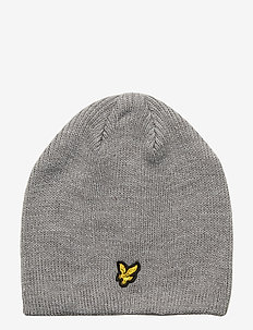 Ribbed Knit Beanie - VINTAGE GREY HEATHER