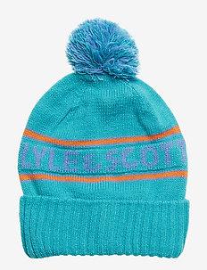 L&S Logo Beanie - kapelusze - lake blue