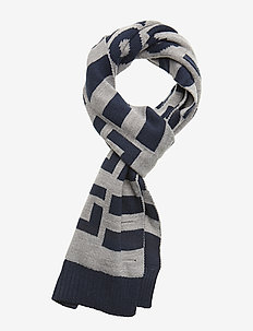 Neutral Stripe Scarf - halsdukar & sjalar - vintage grey heather