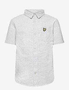 Fine Stripe SS Shirt - shirts - sky blue