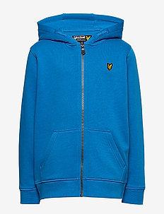 Classic Zip Through Hoodie French Blue - bluzy z kapturem - french blue