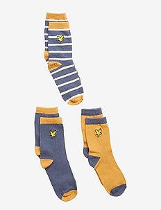 Design & Solid 3 Pair Socks - HONEY