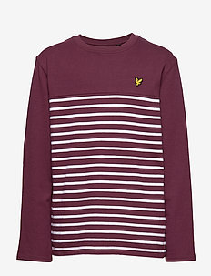 Long Sleeve Breton Block Stripe T-Shirt - WINETASTING