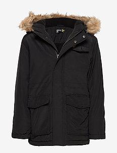 Micro Fleece Parka Jacket - BLACK