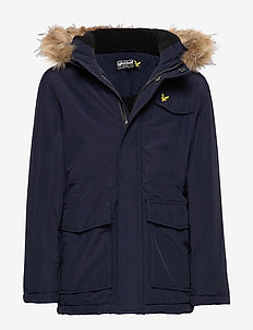 Micro Fleece Parka Jacket - parkas - navy blazer