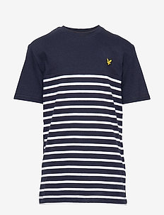 Short Sleeve Breton Block Stripe T-Shirt - NAVY BLAZER