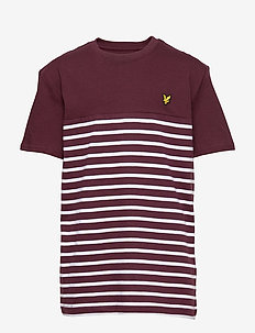 Short Sleeve Breton Block Stripe T-Shirt - WINETASTING