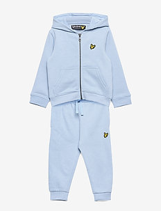 Zip Through Hoodie and Jogger Set Chambray Blue - joggedresser - chambray blue