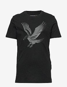 Tonal Eagle Logo T-Shirt - BLACK