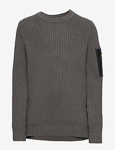 Ribbed Knitted Jumper - GRANITE GREY