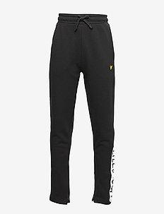 Zip Hem Block Logo Jogger - sweatpants - black