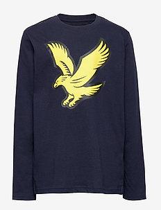 Long Sleeve Logo T-shirt - NAVY BLAZER