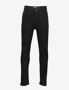 Black Wash Denim Jeans - BLACK WASH