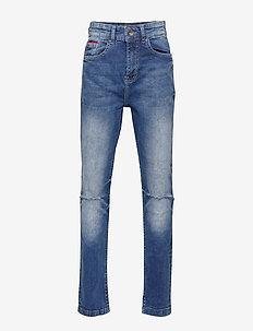 Dark Wash Denim Jeans - ACID DARK WASH