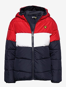 Colour Block Puffa Jacket - puffer & padded - navy blazer