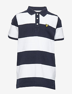 Wide Stripe Polo Shirt Bright White - poloskjorter - bright white