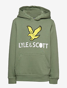 Lyle Eagle Logo LB OTH Hoodie Orion Blue - huvtröja - hedge green
