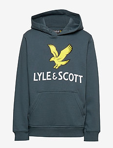 Lyle Eagle Logo LB OTH Hoodie Orion Blue - huvtröja - orion blue