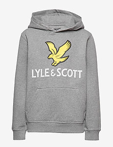 Lyle Eagle Logo LB OTH Hoodie - hupparit - vintage grey heather