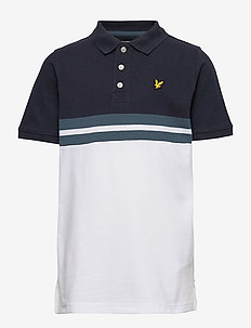 Yoke Stripe Polo Bright White - polo shirts - bright white