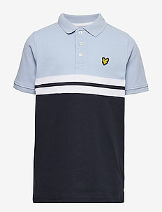 Yoke Stripe Polo Bright White - koszulki polo - chambray blue