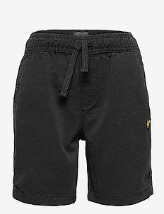 Elasticated Waistband Short Navy Blazer - shorts - black