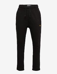 Zip Skinny Jogger Black - sweatpants - black