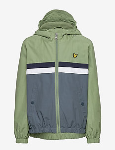 Stripe Windcheater Hedge Green - windbreaker - hedge green