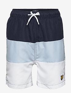Wide Multi Stripe Short - uimashortsit - navy blazer