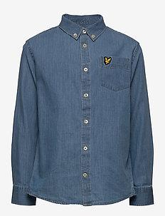 Chambray Shirt Light Chambray Blue - skjorter - light chambray blue