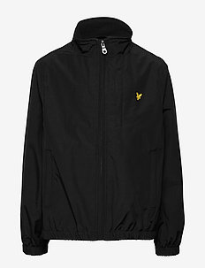 Funnel Neck Jacket Black - windbreaker - black