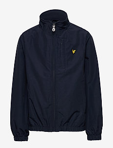 Funnel Neck Jacket Black - windbreaker - navy blazer