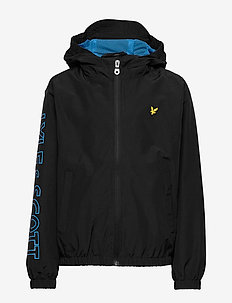 Graphic Zip Through Windcheater Black - windbreaker - black