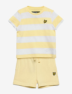 Classic Stripe T-Shirt and Short Set French Vanilla - 2-piece sets - french vanilla