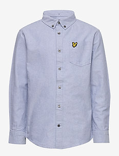 Oxford Long Sleeve Shirt Bright White - skjortor - sky blue