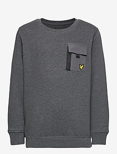 Zip Pocket BB Sweat - sweatshirts - charcoal grey marl