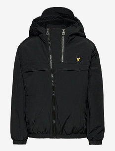 Double Zip Padded Windcheater Black - windbreaker - black