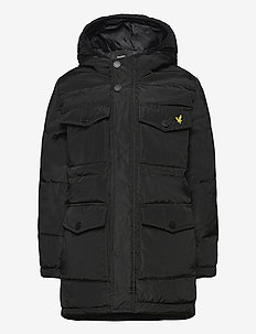 Heavyweight Pocket Longline Puffer Navy Blazer - parkas - black