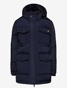 Heavyweight Pocket Longline Puffer Navy Blazer - parkas - navy blazer