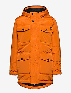 Heavyweight Pocket Longline Puffer Navy Blazer - parkas - russet orange